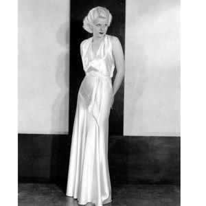 Calvin Klein long white satin halter dress
